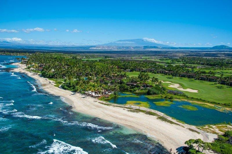 Coastline of the Four Seasons Resort Hualalai