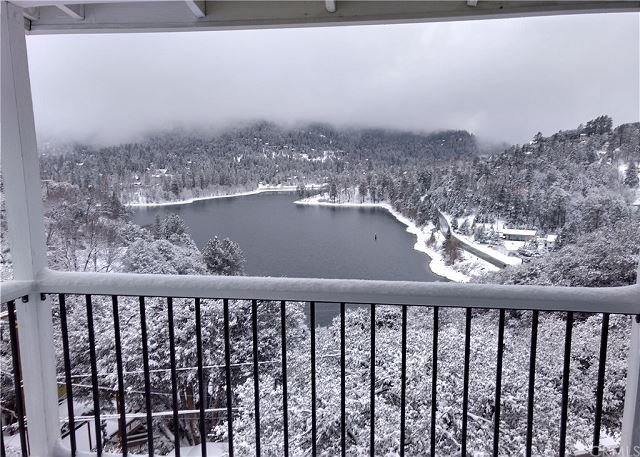 Lake Gregory in the winter.
