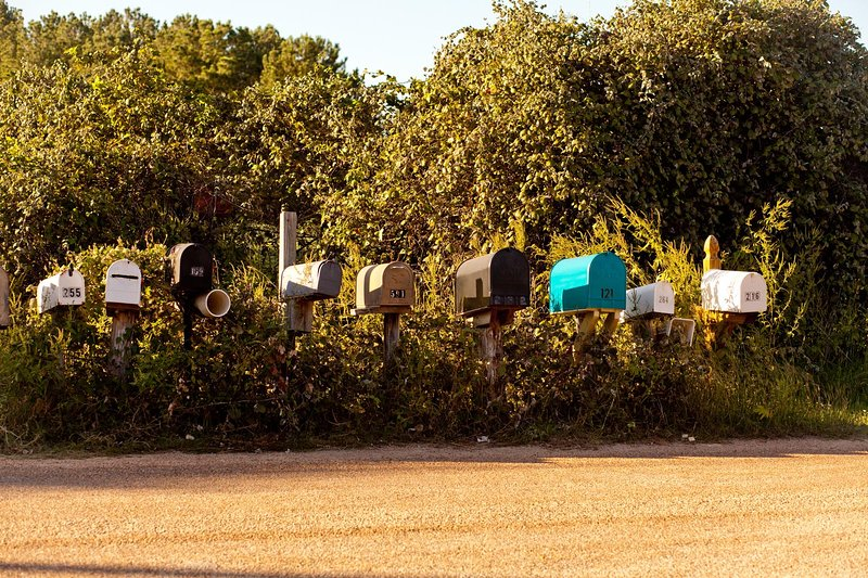Mailboxes on Oakhill Cemetery rd