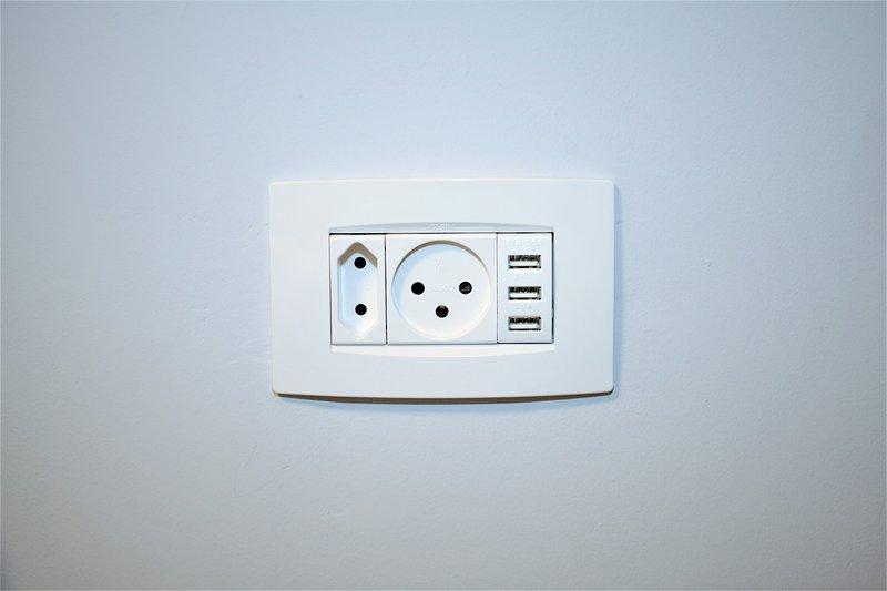 Electricidad + usb