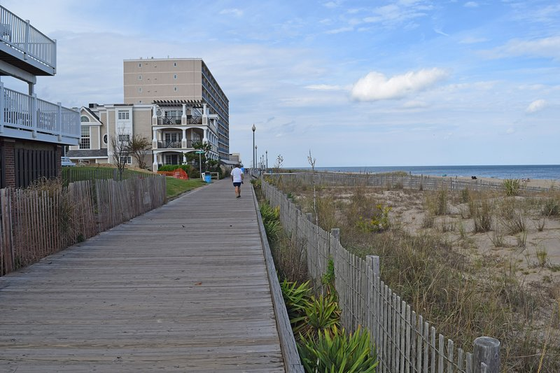 Steps to our famous Boardwalk!