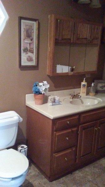 Bathroom with shower inside the master bedroom