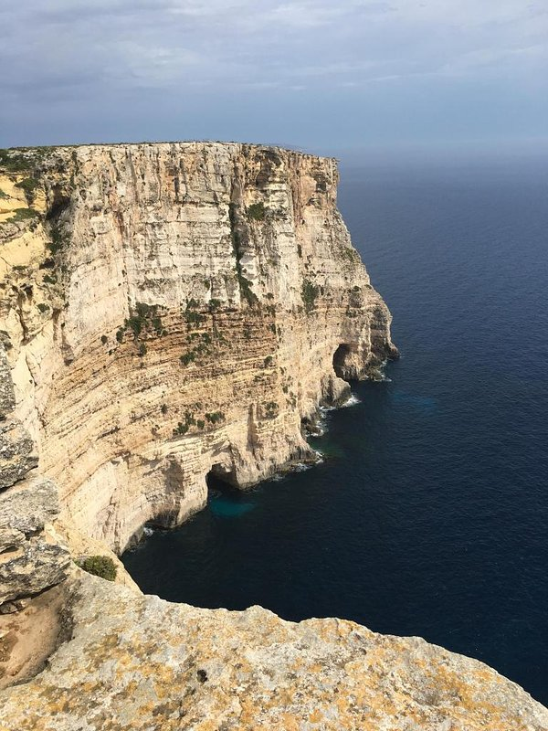 Ta'Cenc cliffs .... very close to the property and ideal for a pleasant walk and trekking.
