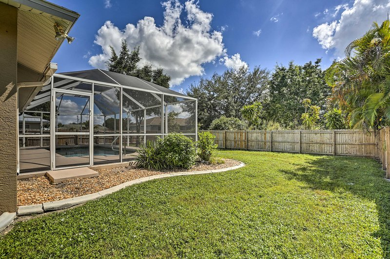 Enjoy the privacy of this fenced-in space.