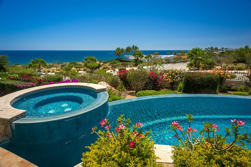 A stunning view of the Sea of Cortez can be seen from the villa's pool & Jacuzzi!