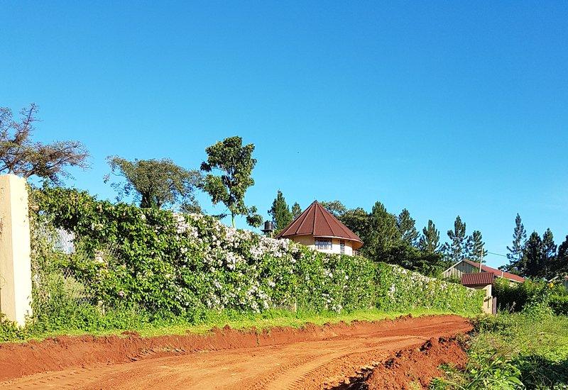 Vägen till kungariket Visa bredvid Uganda Christian University.