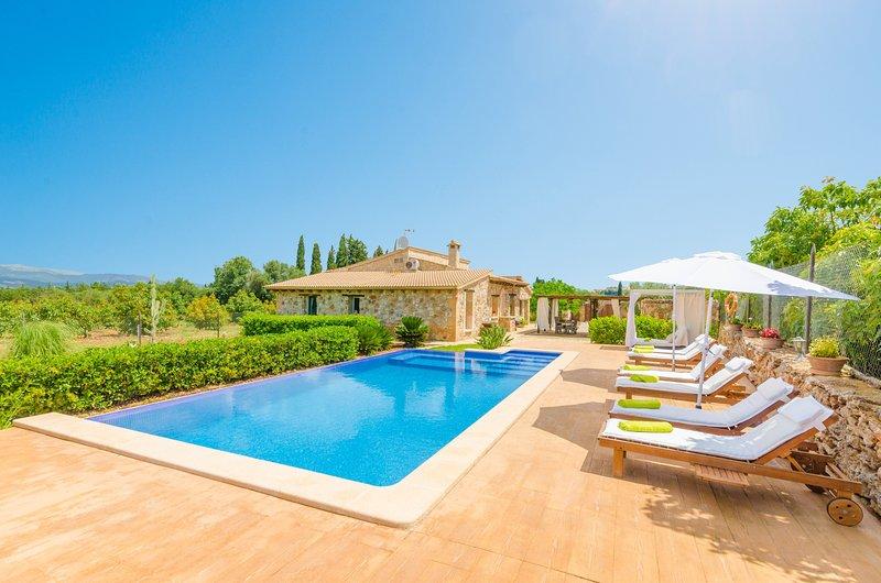 ES MOYÀ DES PINS - Villa for 8 people in MURO, holiday rental in Muro