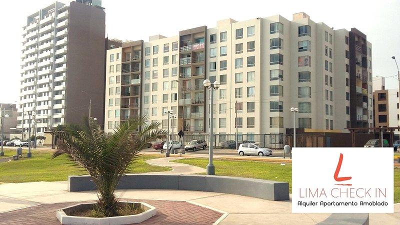 We are in Las Brisas Residential Building, Nicolas de Pierola 117, San Miguel