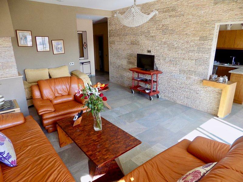 Living room Living room Leather Smart TV Netflix