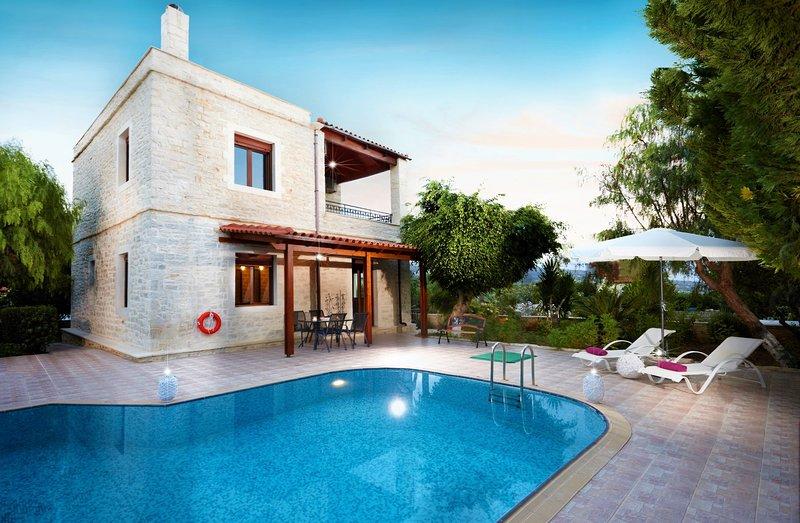 Graceful sea view villa with private pool & BBQ - disCrete Villa Loutra, holiday rental in Mesi