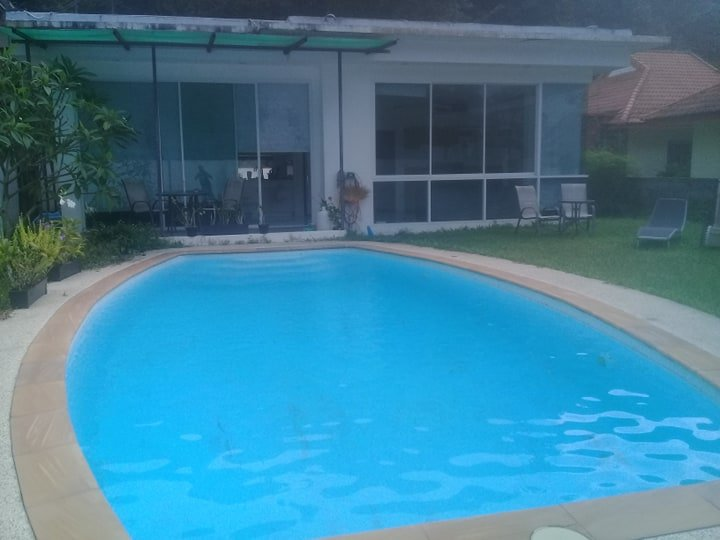 Private pool in front of the property
