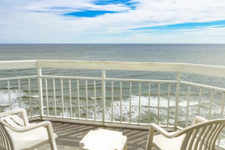 Enjoy amazing ocean views from this private oceanfront balcony