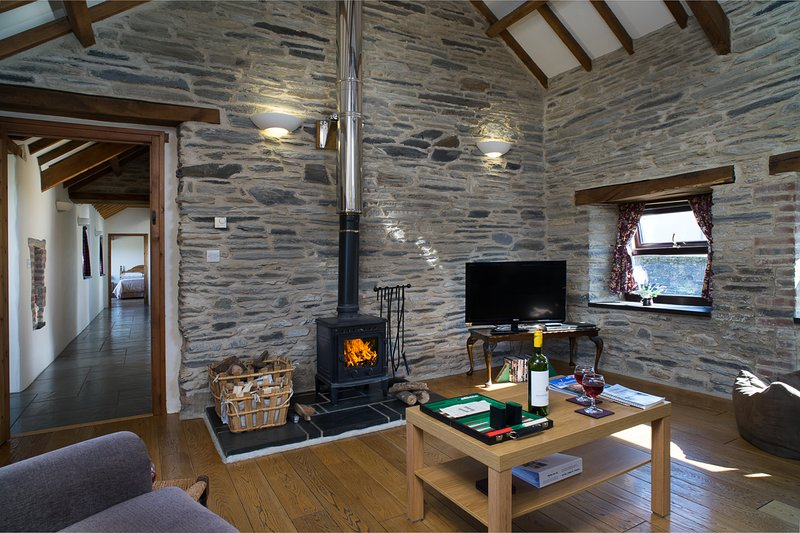 Log burner for cosy nights in