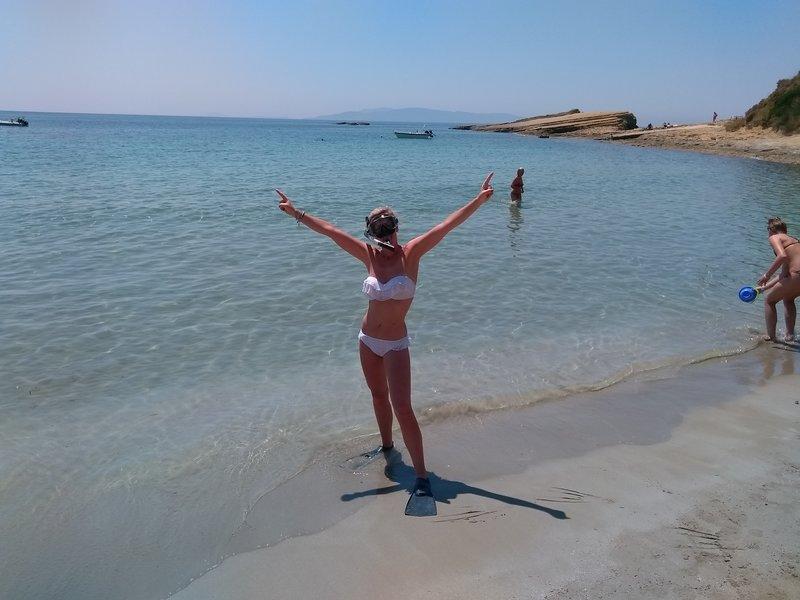 Kefalonia beaches: snorkeling at Spartia beach