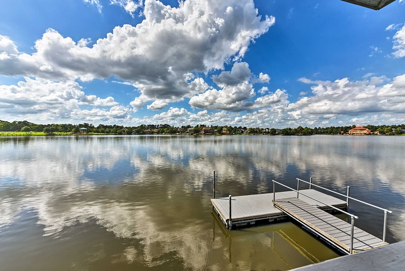 You'll be conveniently located just steps from Lake Woodlands.
