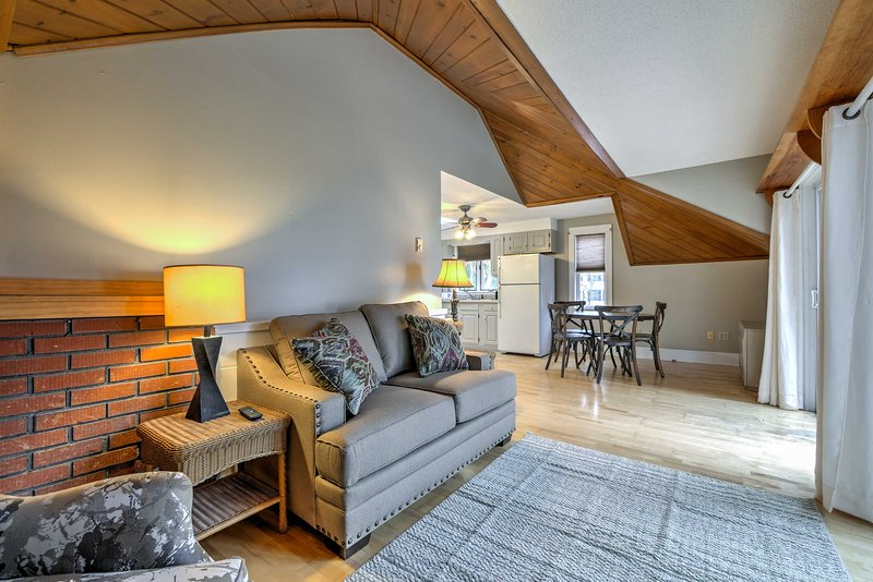 This cozy apartment is perfect for relaxing after adventures in coastal Maine.
