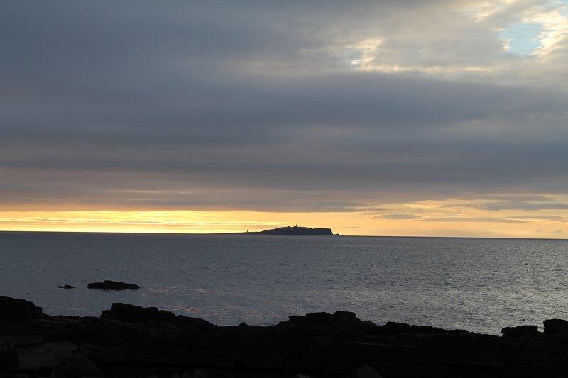 The Isle of May at sunrise
