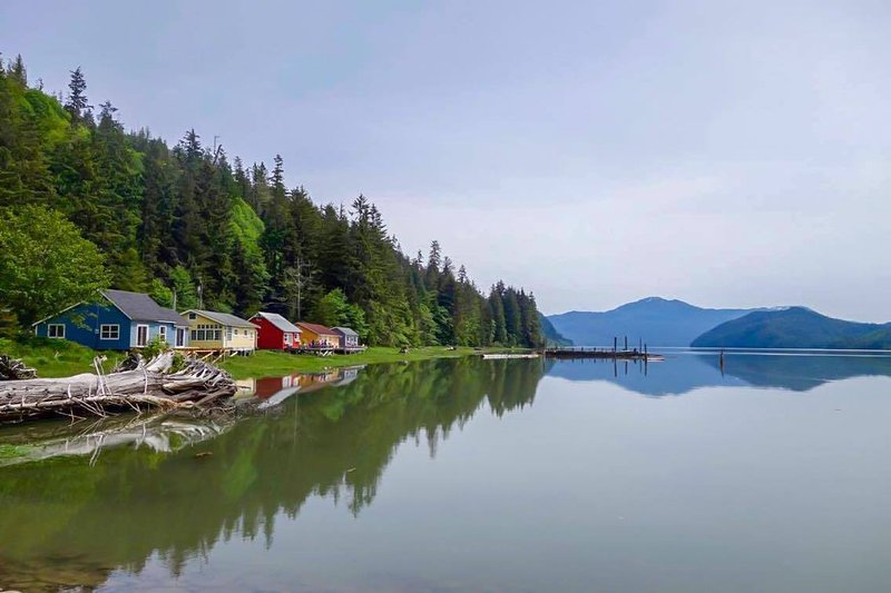 The former manager homes of Cassiar Cannery's salmon packing days are now self-catered Guest Houses.