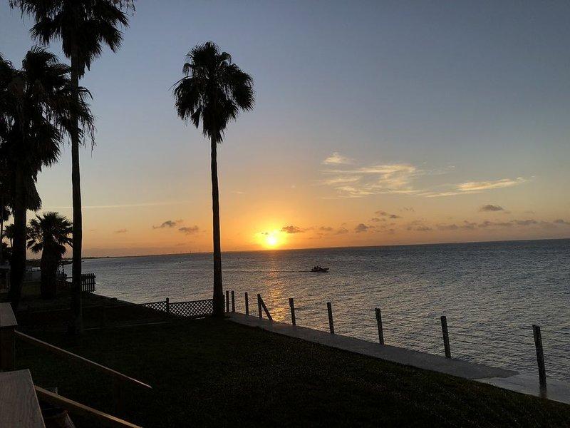 Vista del tramonto dal mazzo di case