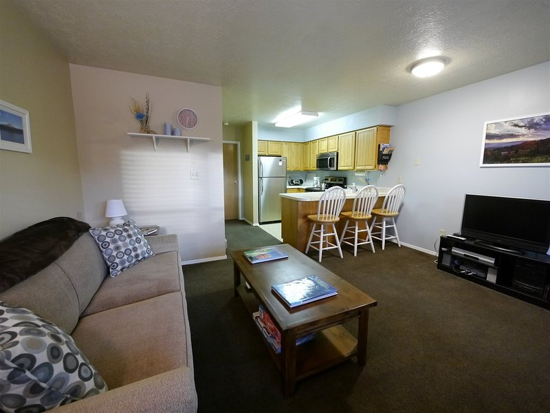 1 Bedroom Wolf Lodge Condo next to Pool, Hot Tub and Club House, holiday rental in Brigham City