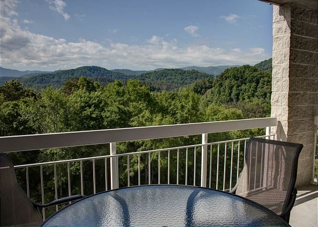 Smoky Mountain vista dal balcone