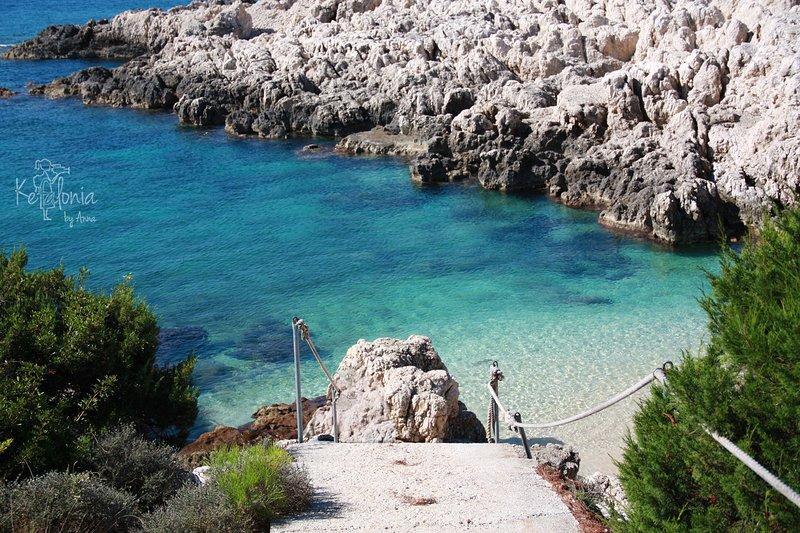 Villa Antikleia, playa de Alaties a 2 km de la Villa