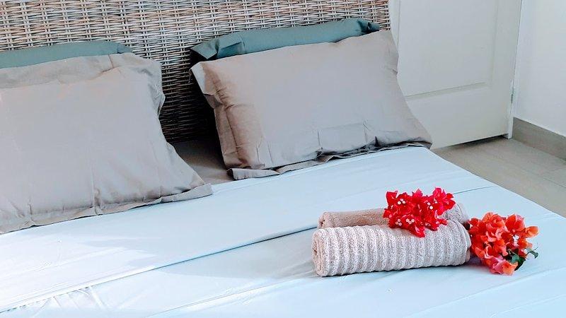 Appartement avec jacuzzi 5 places, location de vacances à Trois Bassins