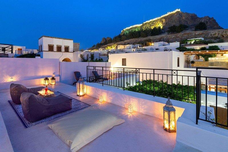 Lindos Pebble with Acropolis View