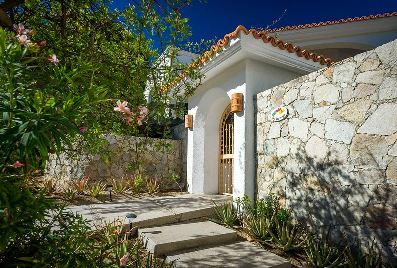 Appreciate the classic Spanish style exterior when you first reach Villa Los Amigos.