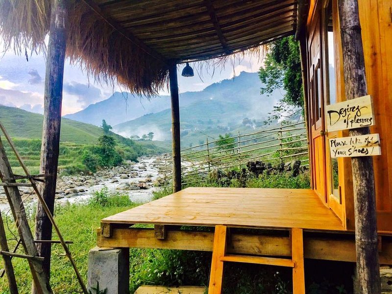 Bungalow in Utopia Eco Lodge - Mountain Retreat, holiday rental in Lao Cai Province