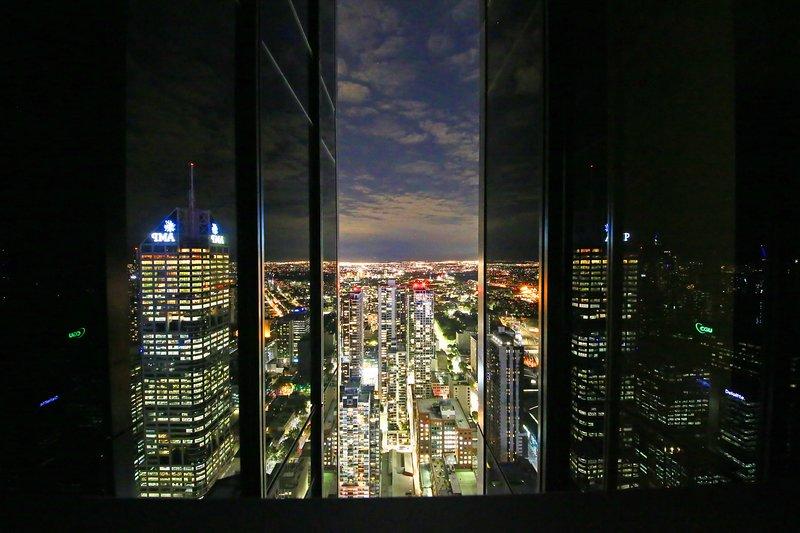 La vista dal balcone.