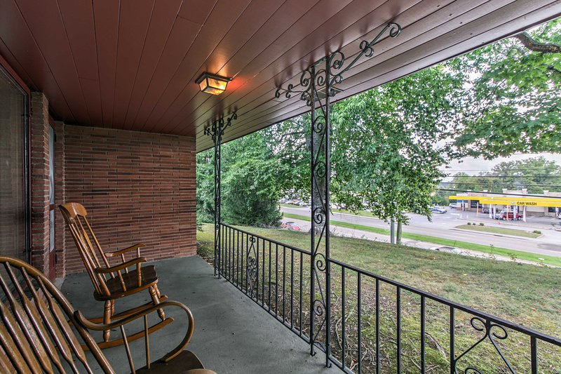 From this lovely home, enjoy sitting out on the front porch for morning coffee.