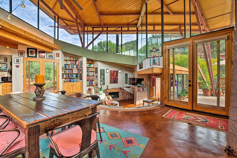 Esta casa de alquiler de vacaciones en Glorieta apareció en Architectural Digest.