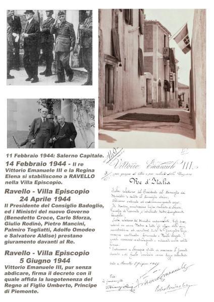 IL RE D'ITALIA VITTORIO EMANUELE III SOGGIORNO' A RAVELLO NELLA VILLA  EPISCOPIO PER ALCUNI MESI.