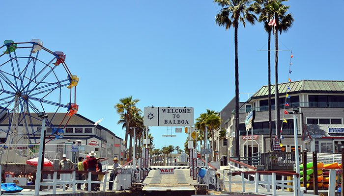 After a short ride on the ferry, you've arrived - welcome to the Balboa Peninsula!