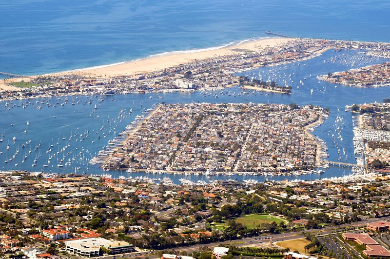 Balboa Island sits in one of the largest non-commercial harbors in the US
