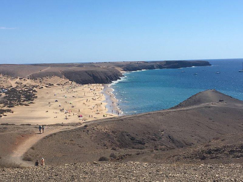 Vista della spiaggia di Papagayo