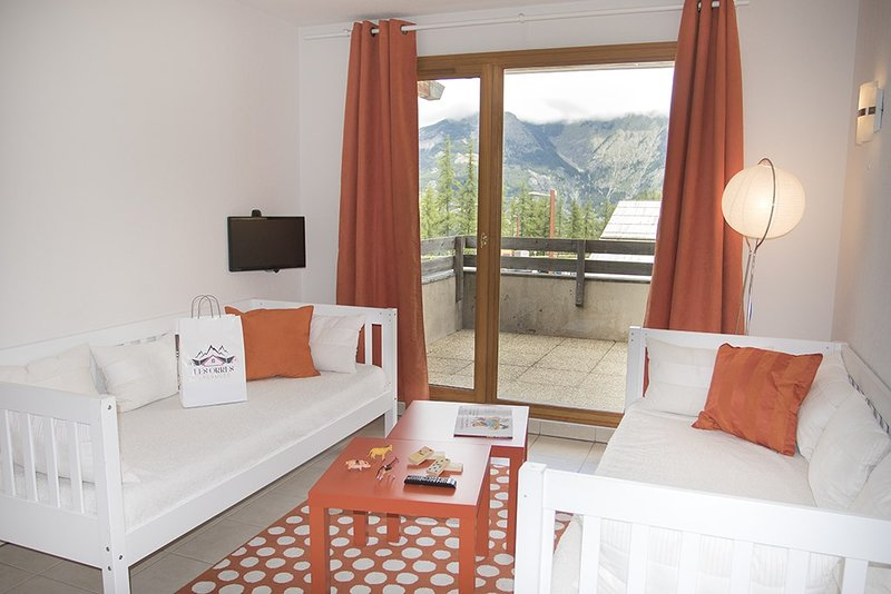 Come and stay in our bright and cozy apartment in Les Orres 1800!
