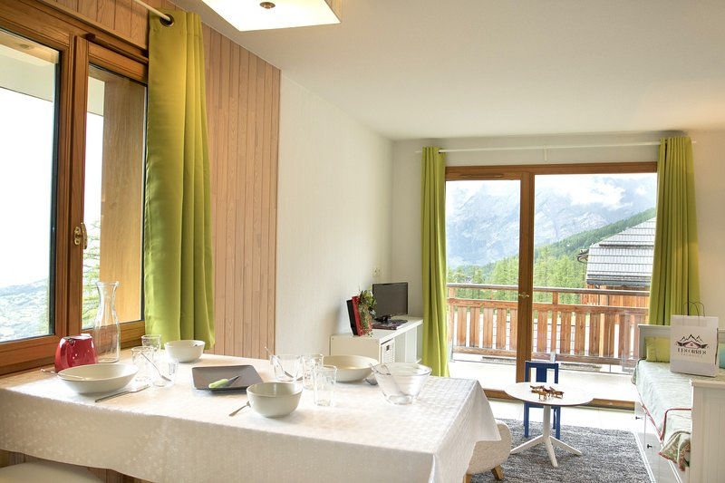 Escape to our bright and modern retreat in Les Orres 1800!