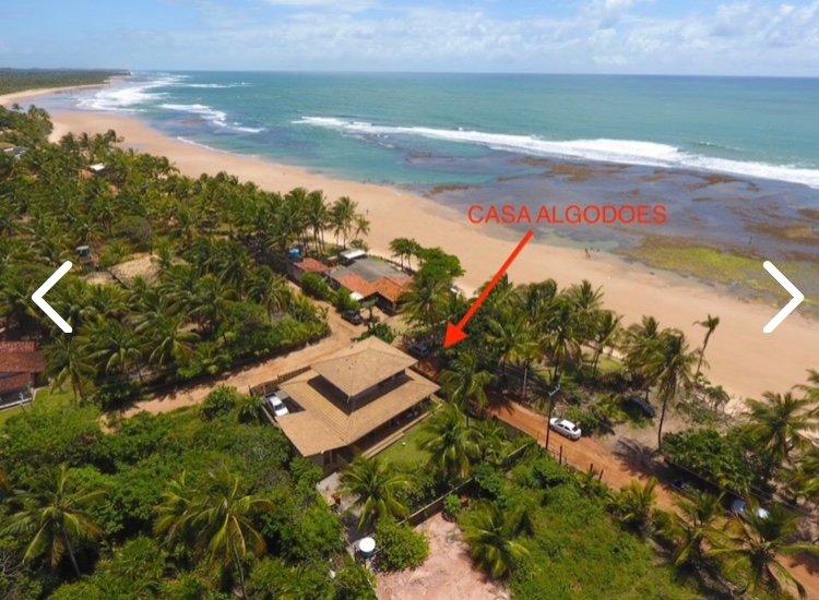 Casa linda e espaçosa de 4 quartos em frente à praia dos Algodoes, location de vacances à Marau