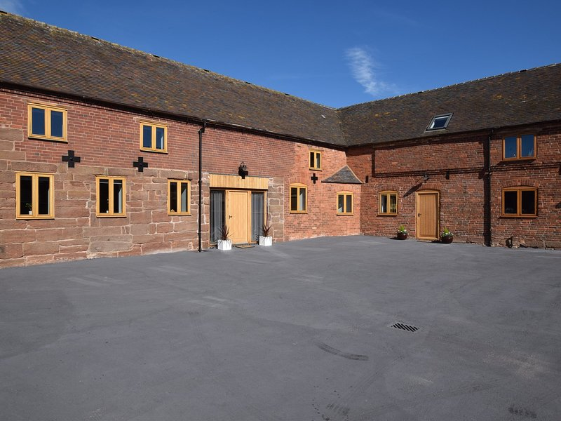 View towards the barn from the courtyard