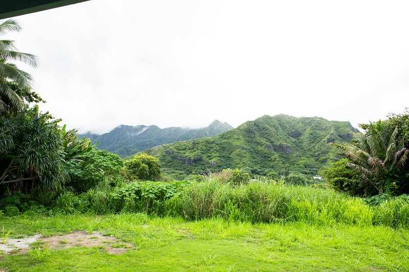 The mountains of Oahu are spectacular - and right behind your home!