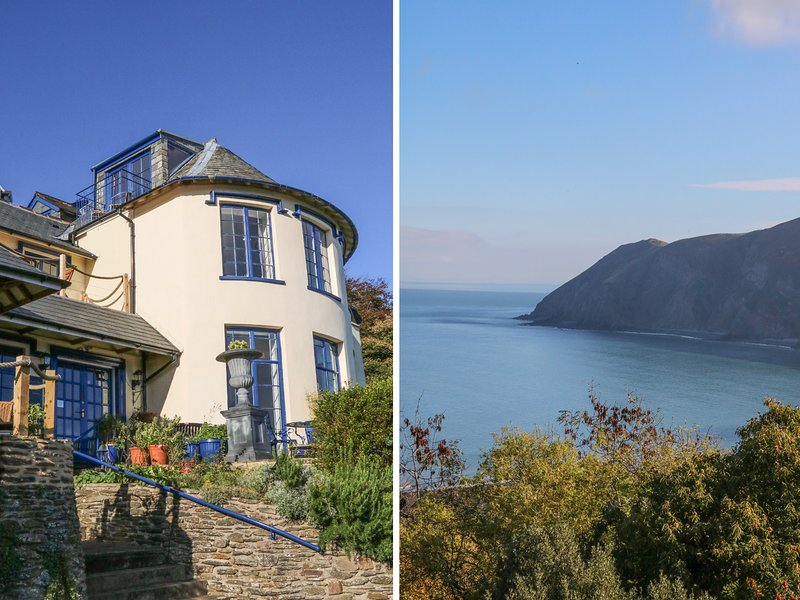 BAYVIEW TOWER, four poster bed, sea views, Lynton, holiday rental in Barbrook