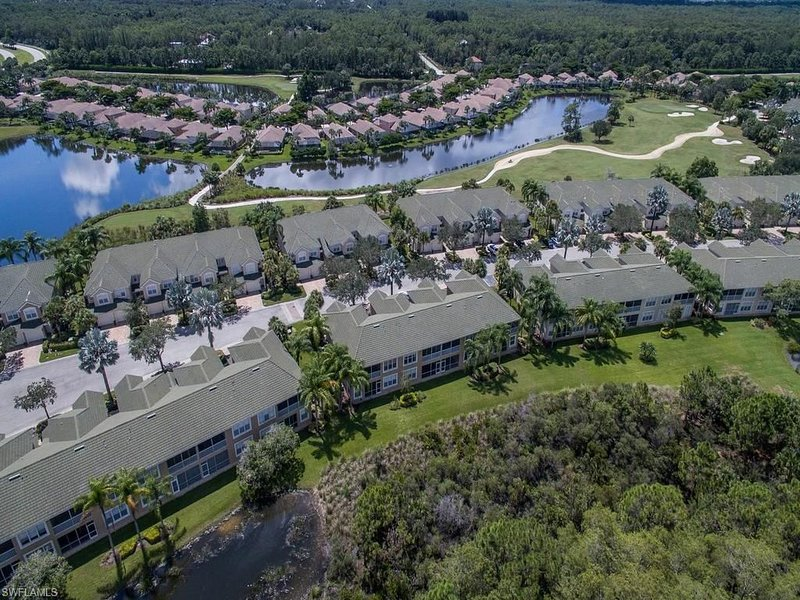 Overhead of condo & golf course