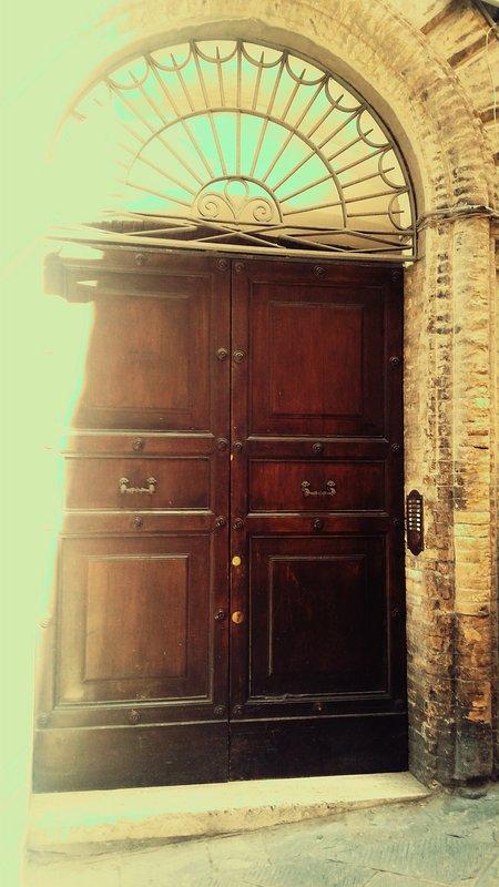 The external door - the doorway