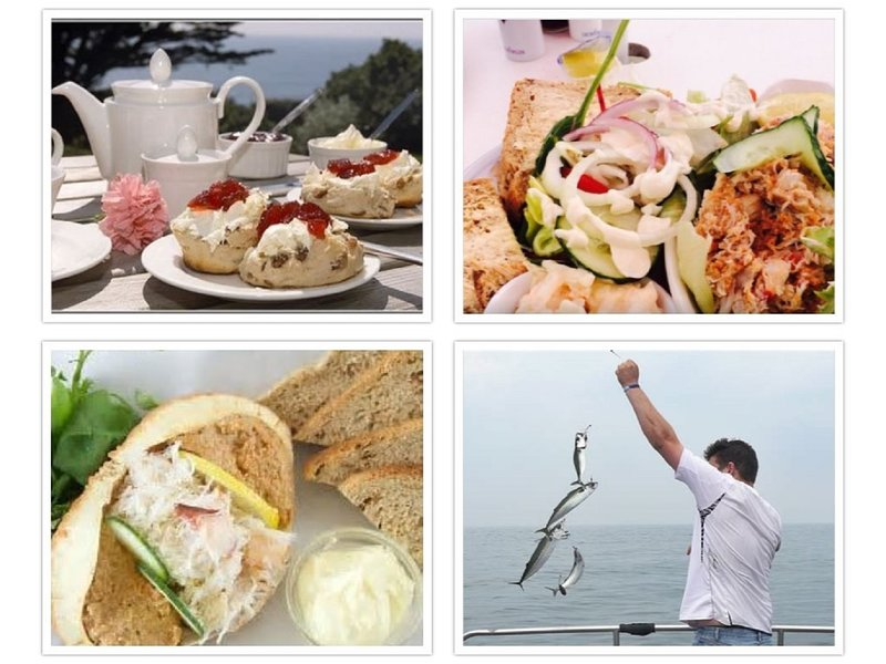 The must have cream tea and local produce, even fish for your own supper!