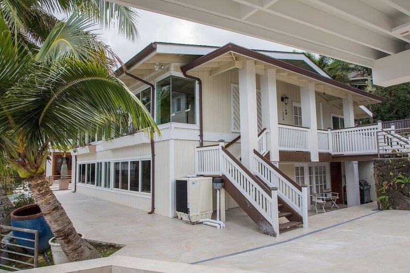 Sea Breeze Villa is on the upper half of the property. Caretaker lives on the bottom floor.