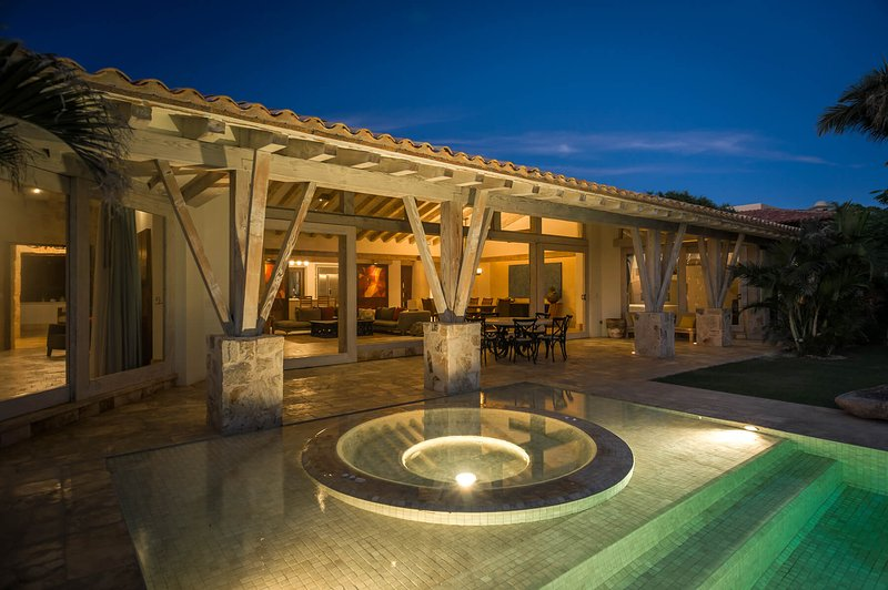 Take in the calm and serene nights along the beautiful terrace of this luxury villa.