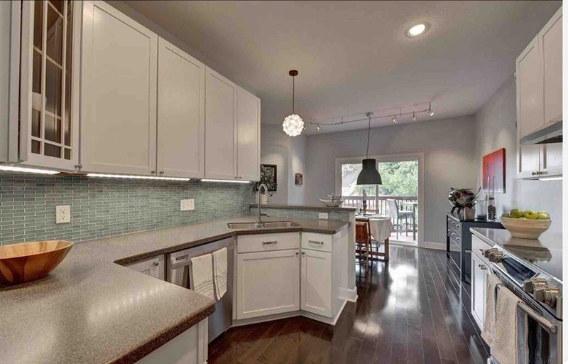 Beautiful open kitchen that is equipped with everything & anything you'll need.