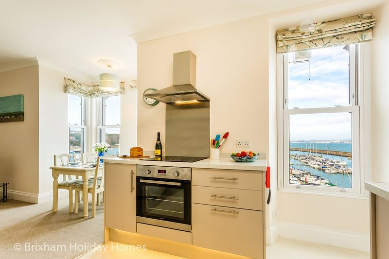 Stepaside Apartments - Poppin - Luxury 2 bedroom apartment overlooking Brixham M, holiday rental in Brixham